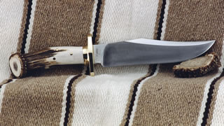 "Blade 3/8"" x 2"" x 9 1/4"" long, 3 1/2"" Guard, Forged 5160 Steel, Half length full tang, crown handle"